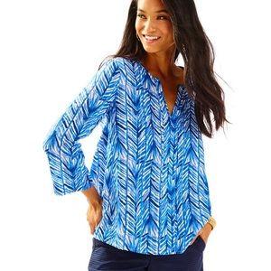 Lilly Pulitzer Nalani Blue Swing Tunic